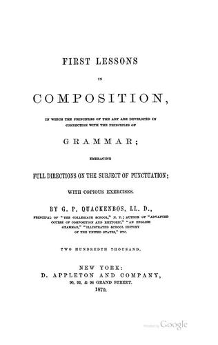 Download First lessons in composition