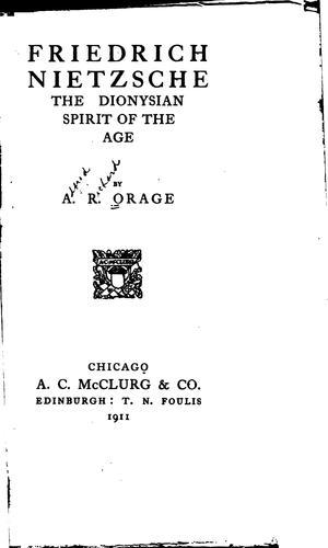 Download Friedrich Nietzsche, the Dionysian spirit of the age