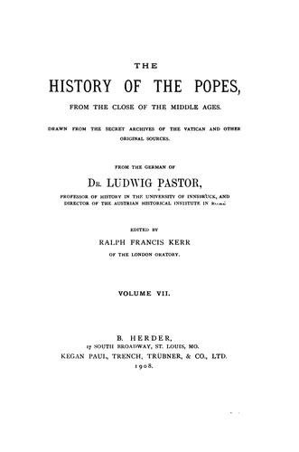 Download The history of the popes, from the close of the middle ages.