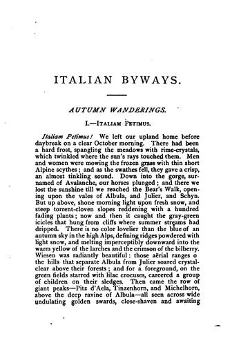 Download Italian byways