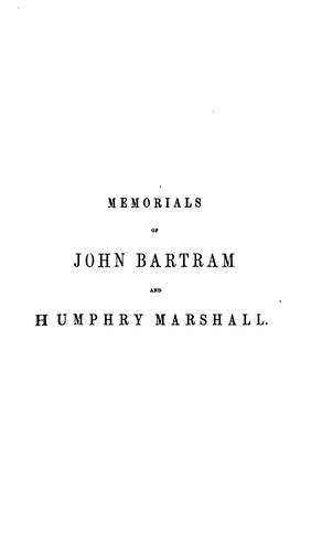 Download Memorials of John Bartram and Humphry Marshall
