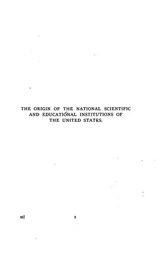 Download The origin of the national scientific and educational institutions of the United States