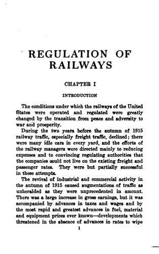 Regulation of railways