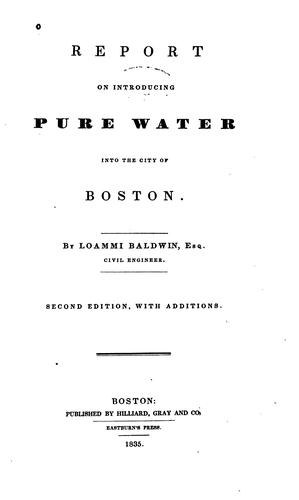 Download Report on introducing pure water into the city of Boston