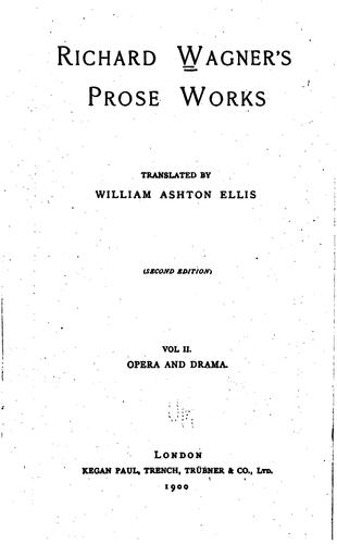 Download Richard Wagner's prose works