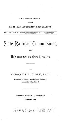 State railroad commissions, and how they may be made effective