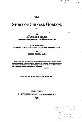 Download The story of Chinese Gordon