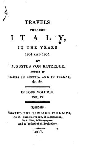 Download Travels through Italy, in the years 1804 and 1805