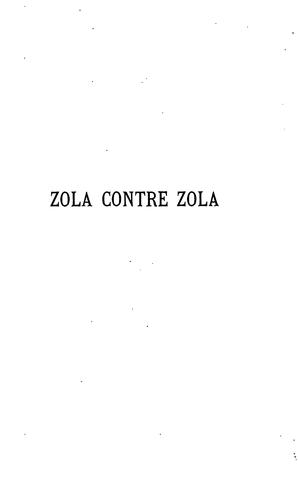 Download Zola contre Zola.