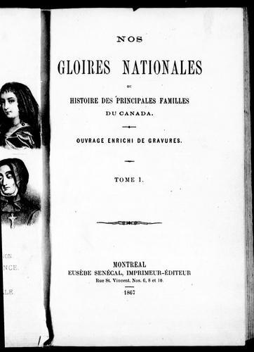 Download Nos gloires nationales ou Histoire des principales familles du Canada