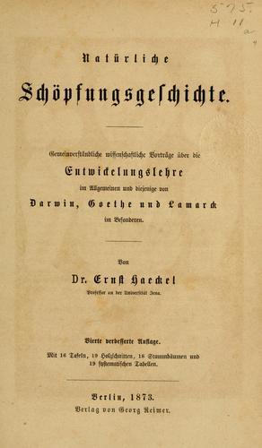 Download Natürliche Schöpfungsgeschichte.