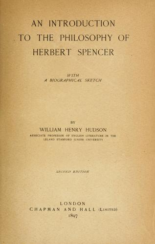 Download An introduction to the philosophy of Herbert Spencer
