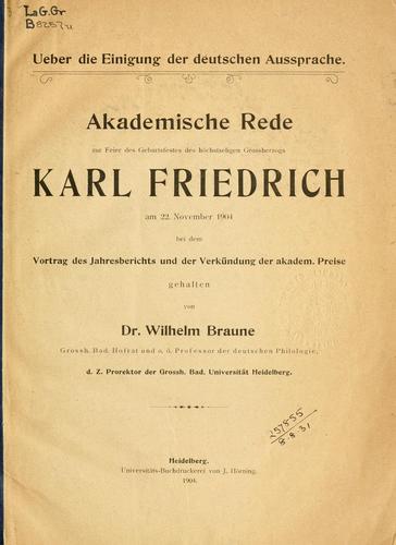Download Über die Einigung der deutschen Aussprache