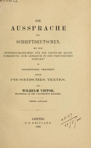 Die Aussprache des Schriftdeutschen