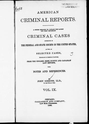Download American criminal reports