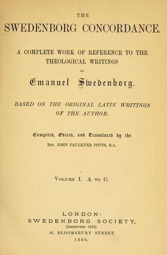The Swedenborg concordance.