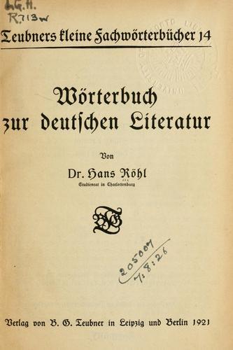 Download Wörterbuch zur deutschen Literatur.