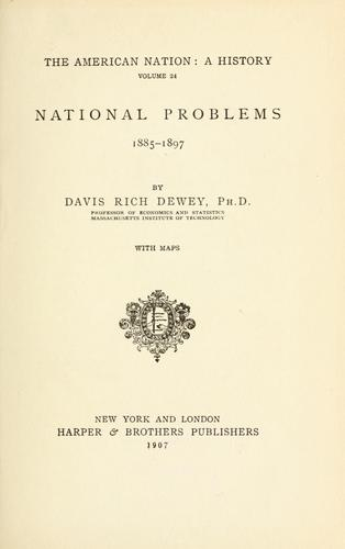 Download National problems, 1885-1897.