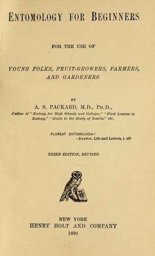 Entomology for beginners
