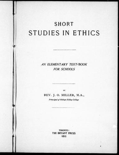 Download Short studies in ethics