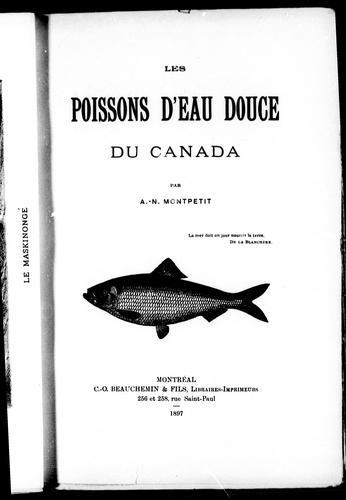 Les poissons d'eau douce du Canada