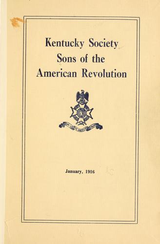 Revolutionary soldiers in Kentucky.