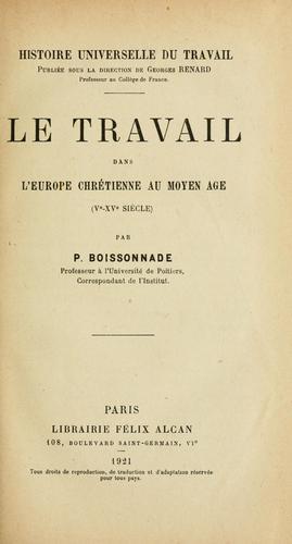 Download Le travail dans l'Europe chrétienne au moyen âge (Ve-XVe siècles)