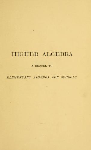 Download Higher algebra