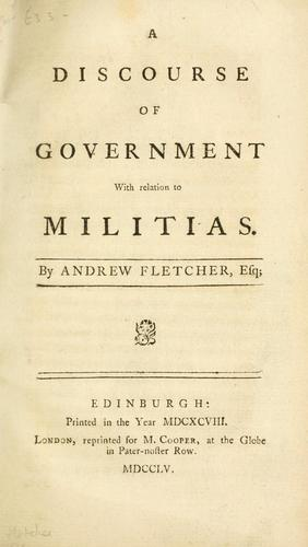 Download A discourse of government with relation to militias