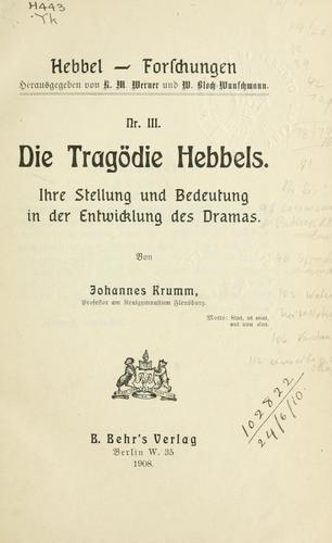 Download Die Tragödie Hebbels