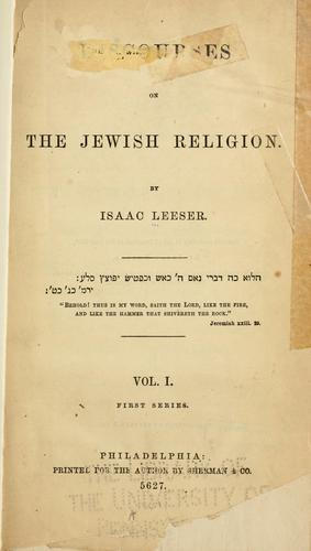 Download Discourses on the Jewish religion