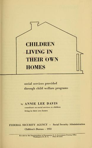 Children living in their own homes