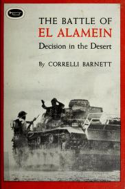 Cover of: The Battle of El Alamein by Correlli Barnett