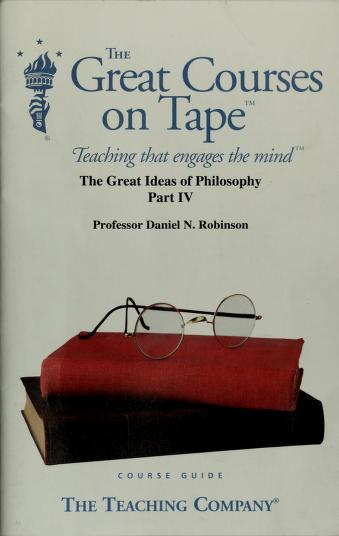 Cover of: The great ideas of philosophy | Daniel N. Robinson