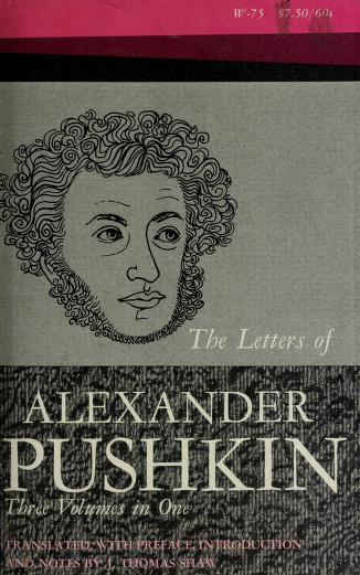 The letters of Alexander Pushkin by Aleksandr Sergeyevich Pushkin