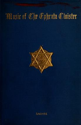 Cover of: Music of the Ephrata cloister | Julius Friedrich Sachse