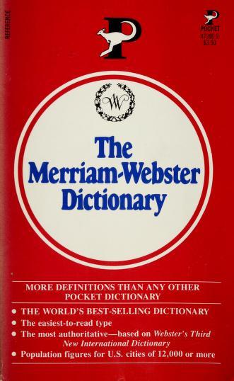 M Webstr Pk Dict R by Merriam