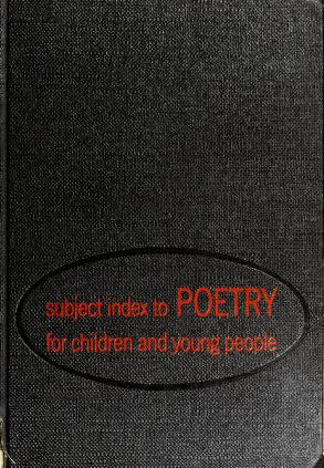 Cover of: Subject index to poetry for children and young people by American Library Association