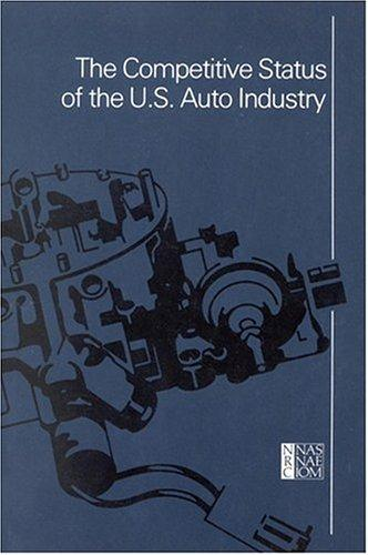 The Competitive Status of the U.S. Auto Industry by National Research Council.