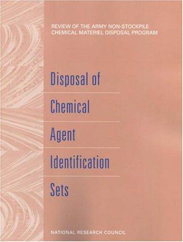 Disposal of Chemical Agent Identification Sets by National Research Council.