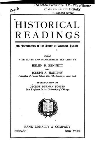 Historical readings by Bennett, Helen Blanche