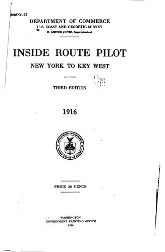 Inside route pilot by United States. Coast and Geodetic Survey.