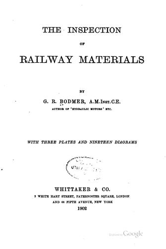 The inspection of railway materials by George Rudolph Bodmer