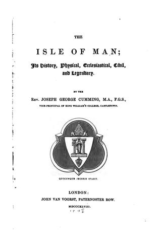 The Isle of Man by J. G. Cumming