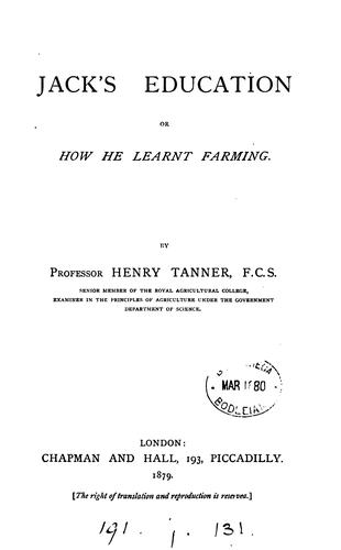 Jack's education by Henry Tanner
