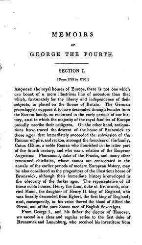 Memoirs of George the Fourth by Robert Huish