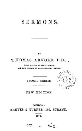 Sermons by Arnold, Thomas
