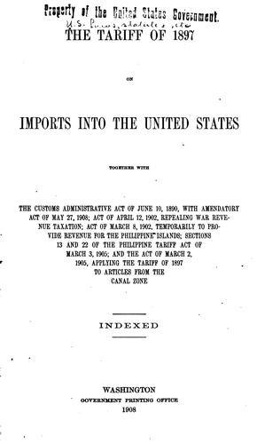 The tariff of 1897 on imports into the United States