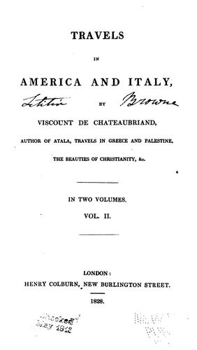 Travels in America and Italy by François-René de Chateaubriand