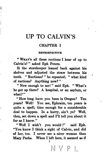 """Up to Calvin's,"" by Laura Elizabeth Howe Richards"